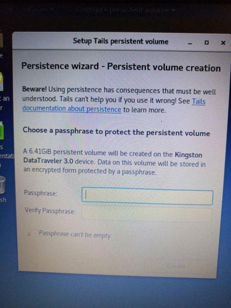 Введення пароля для доступу до місця постійного сховища