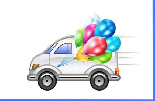Як заробити на своєму авто: Доставка повітряних куль