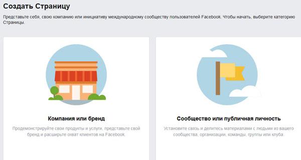 бізнес-сторінка у Facebook: Здійснюємо вибір