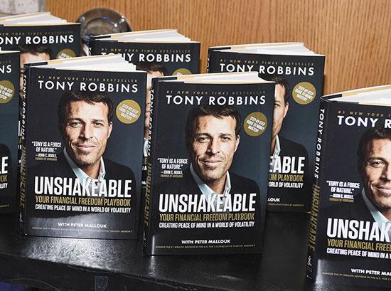 """Презентація однієї з численних книг Тоні - """"Непереможний: ваш підручник з фінансової свободи"""", 2017 р."""