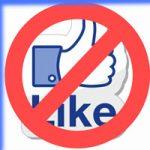 Відміна лайків у Facebook